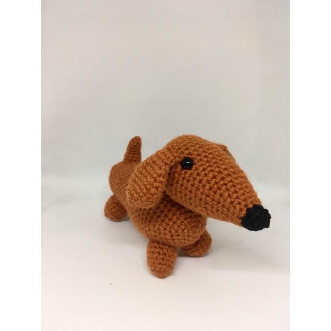 Amigurumi dachshund dog