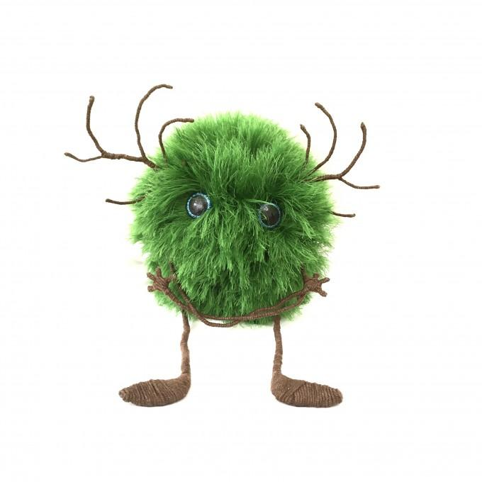 Amigurumi green monster