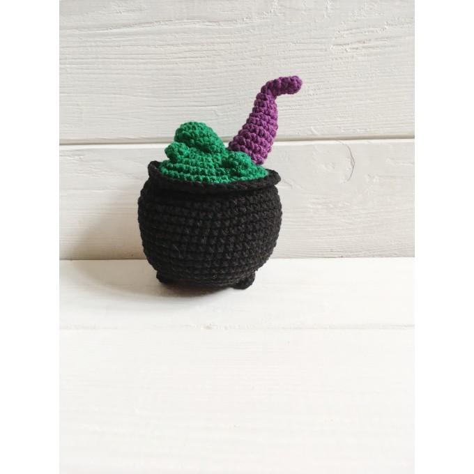 Amigurumi witch's cauldron