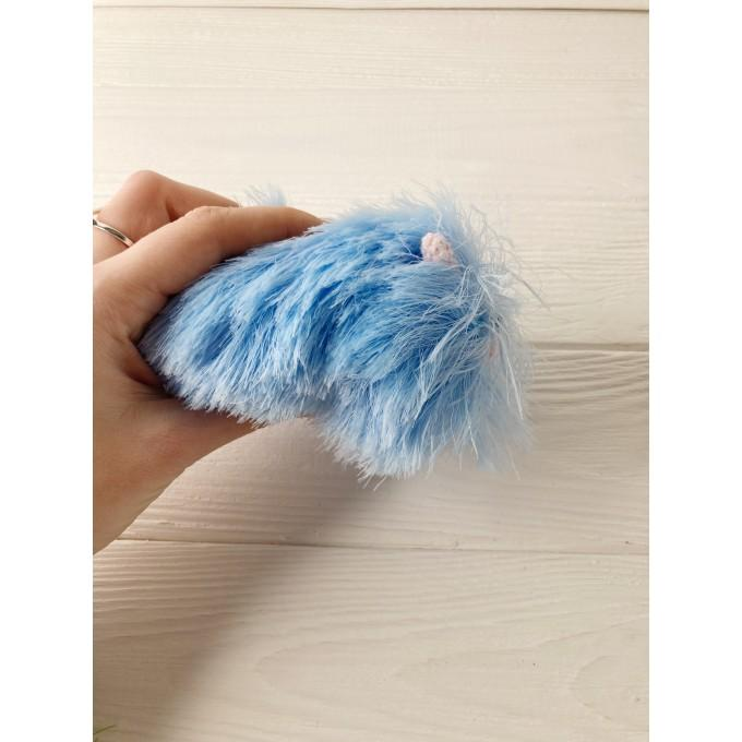Amigurumi blue and pink caterpillar