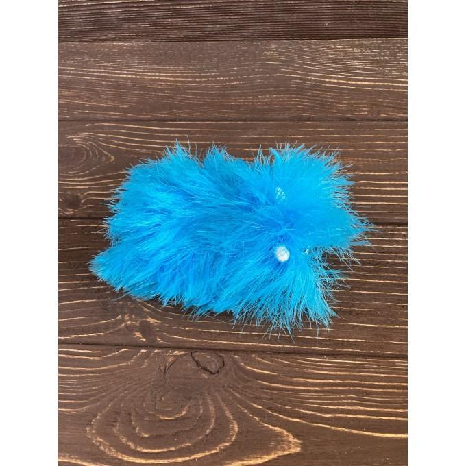 Amigurumi blue and white caterpillar