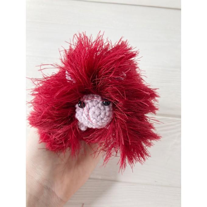 Amigurumi red and pink caterpillar