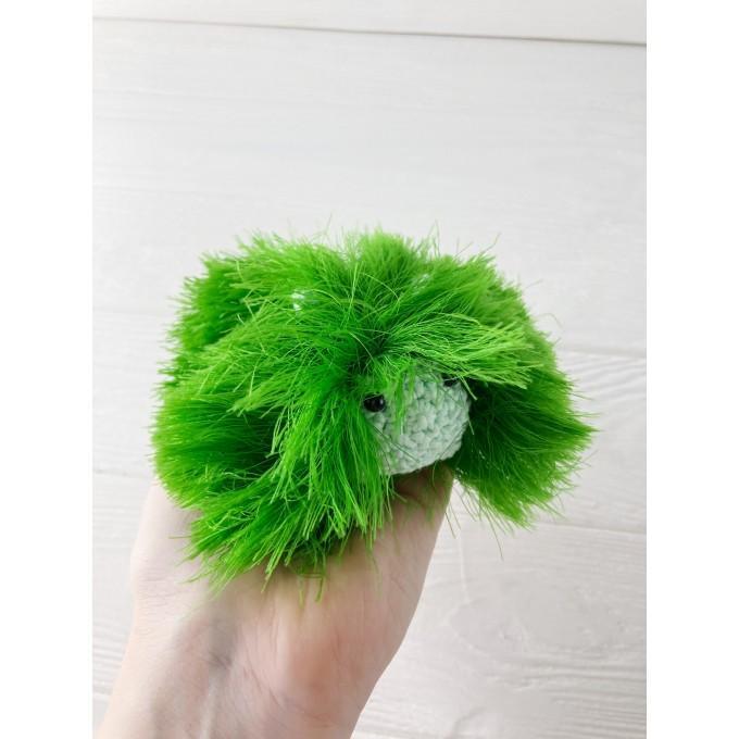 Amigurumi green caterpillar