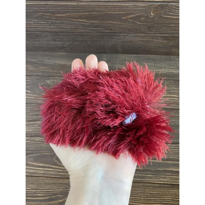 Amigurumi red and purple caterpillar