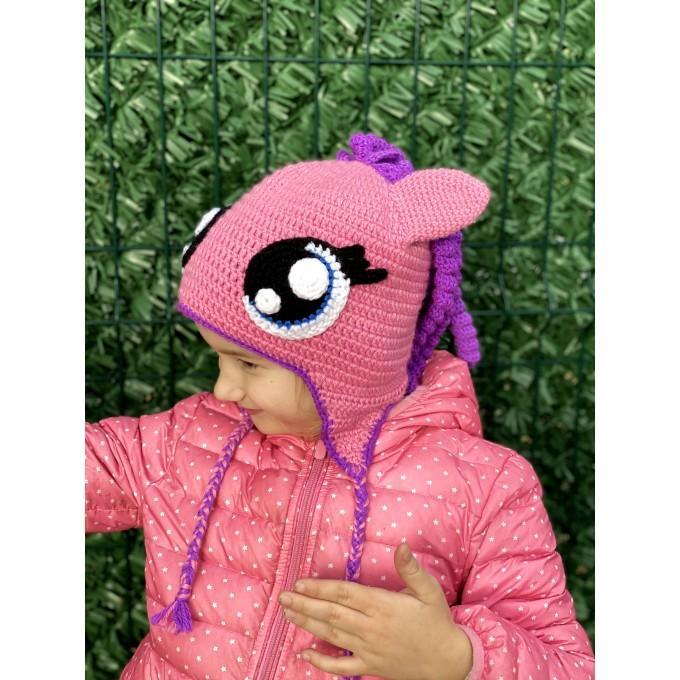 Crochet pony hat
