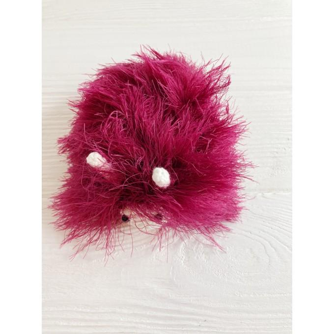 Amigurumi burgundy caterpillar