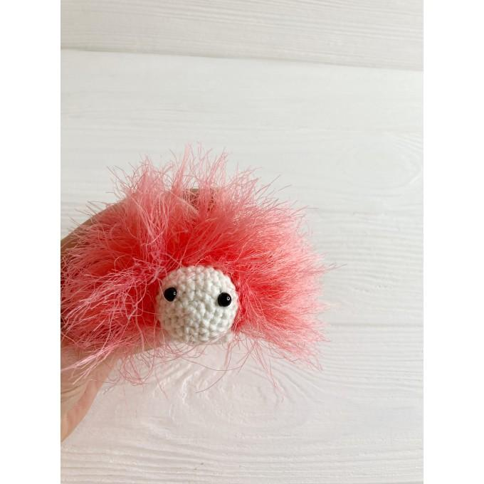 Amigurumi coral caterpillar
