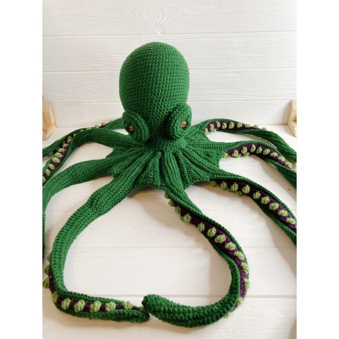 Amigurumi emerald green octopus