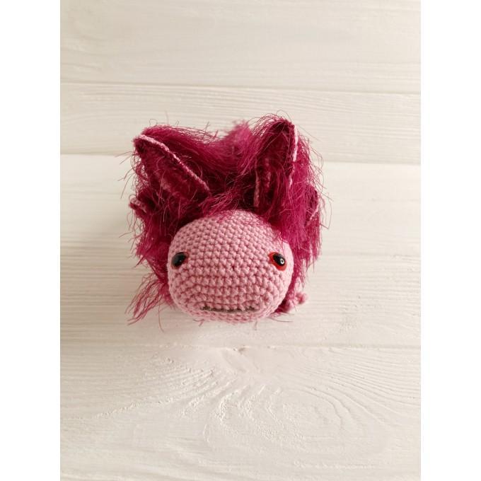 Amigurumi pink axolotl