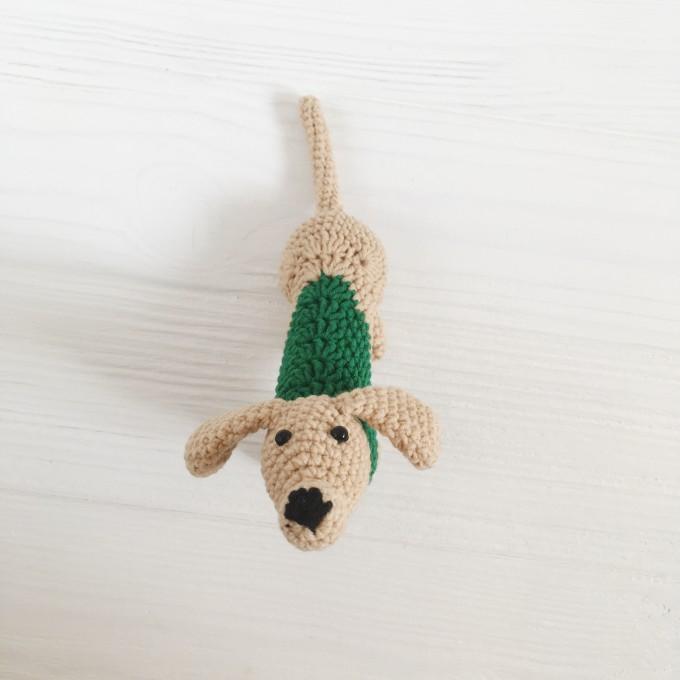 Amigurumi hunting dog