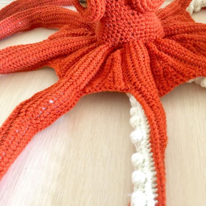 Amigurumi orange octopus