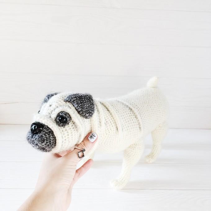 Amigurumi pug dog