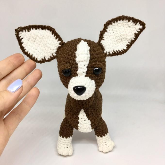 Amigurumi brown Chihuahua