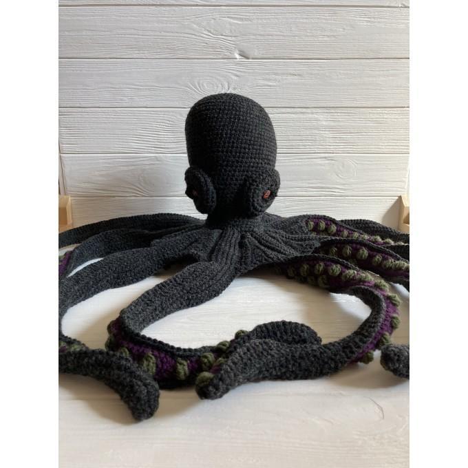Amigurumi black and purple octopus