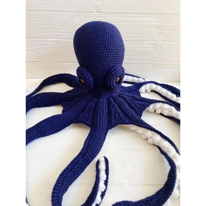 Amigurumi dark blue octopus
