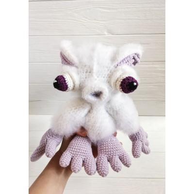 Amigurumi purple monster
